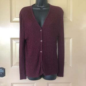 Jason Maxwell Plum Colored Cardigan Size Medium